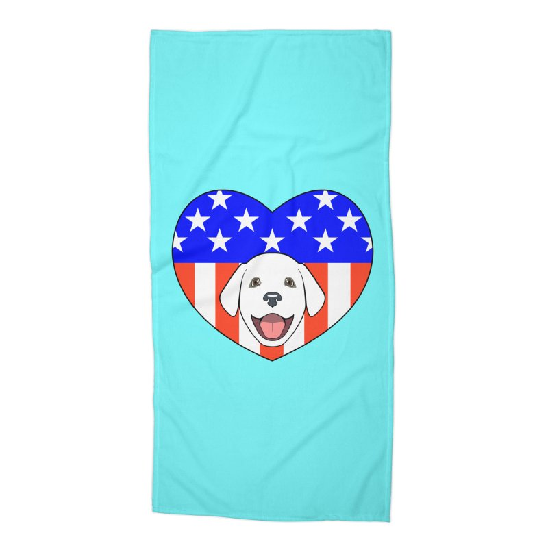 ALL AMERICAN DOG LOVER Accessories Beach Towel by CAT IN ORBIT Artist Shop