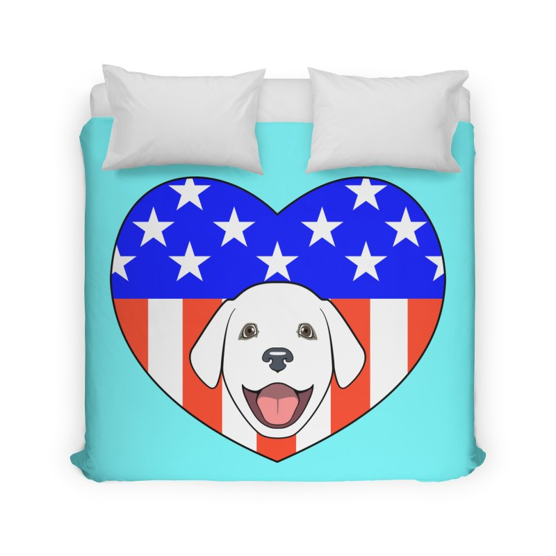 ALL AMERICAN DOG LOVER Home Duvet by CAT IN ORBIT Artist Shop