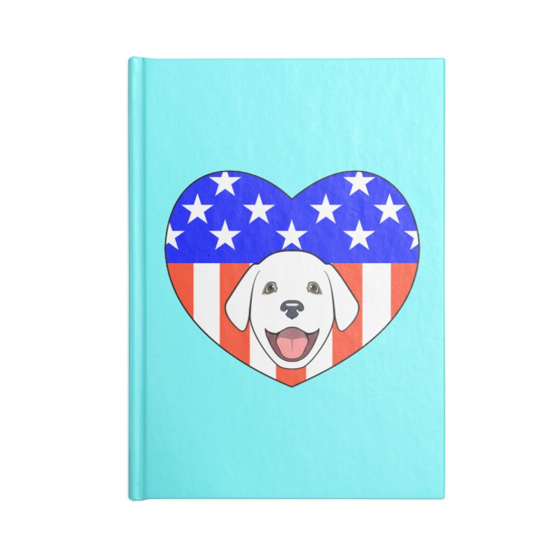 ALL AMERICAN DOG LOVER Accessories Notebook by CAT IN ORBIT Artist Shop