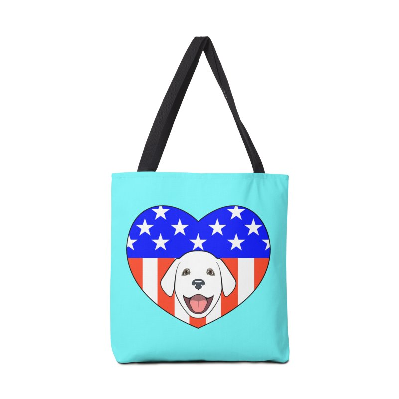 ALL AMERICAN DOG LOVER Accessories Bag by CAT IN ORBIT Artist Shop