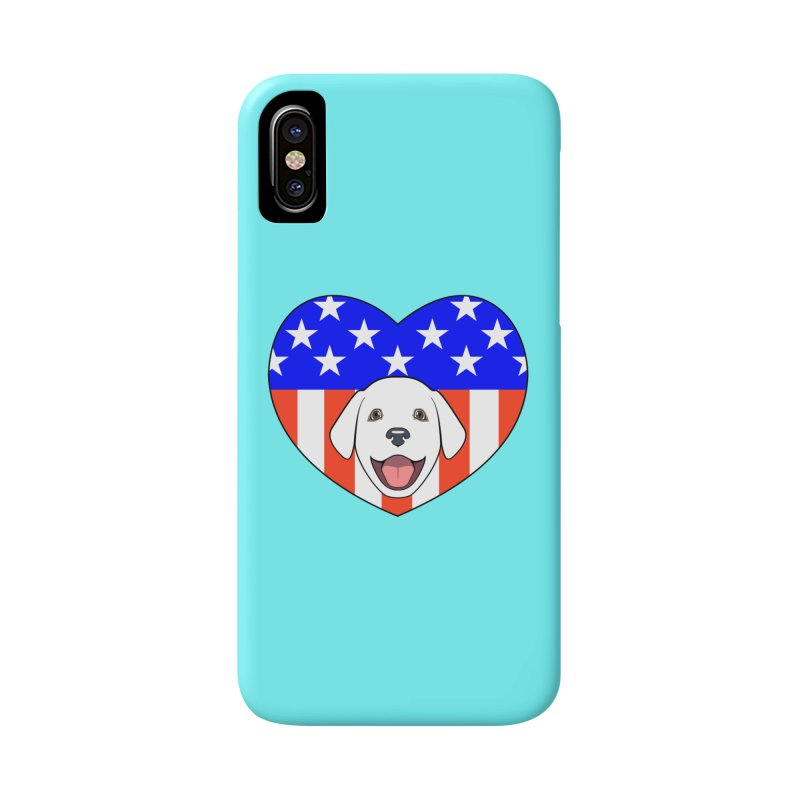 ALL AMERICAN DOG LOVER Accessories Phone Case by CAT IN ORBIT Artist Shop