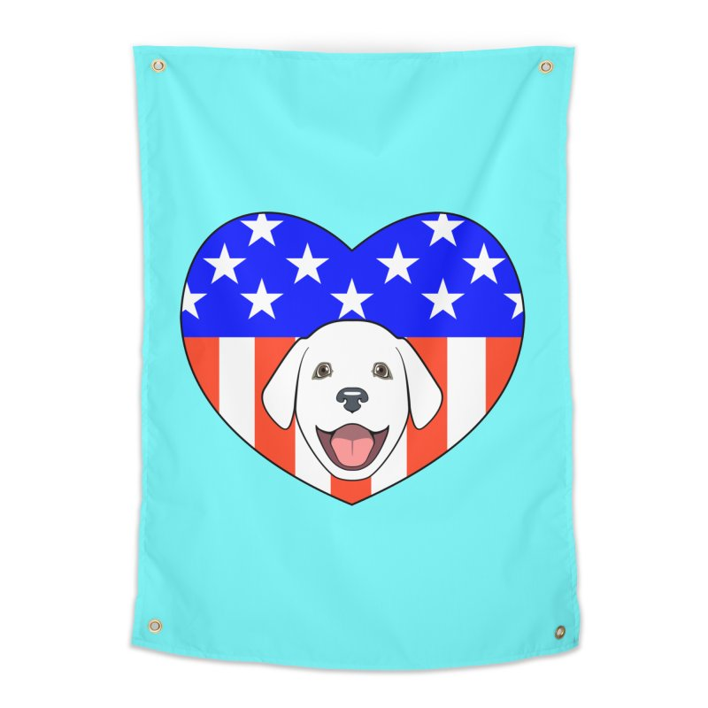 ALL AMERICAN DOG LOVER Home Tapestry by CAT IN ORBIT Artist Shop