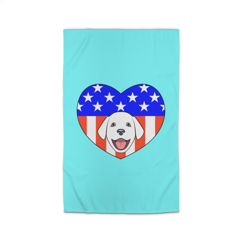 ALL AMERICAN DOG LOVER Home Rug by CAT IN ORBIT Artist Shop