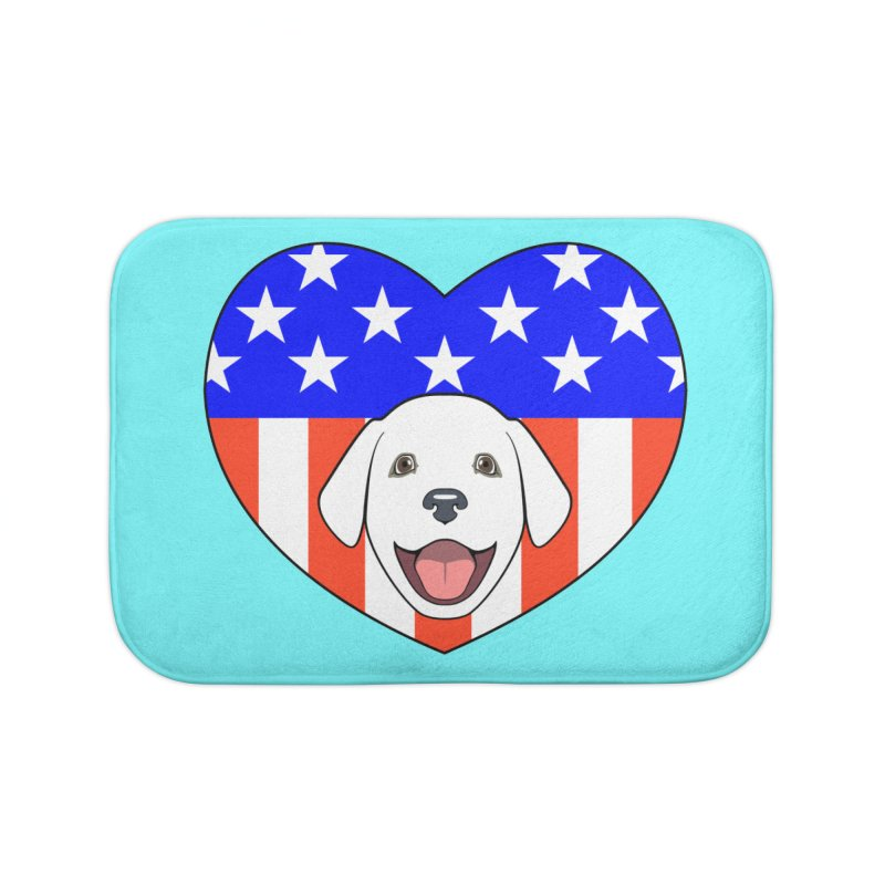 ALL AMERICAN DOG LOVER Home Bath Mat by CAT IN ORBIT Artist Shop