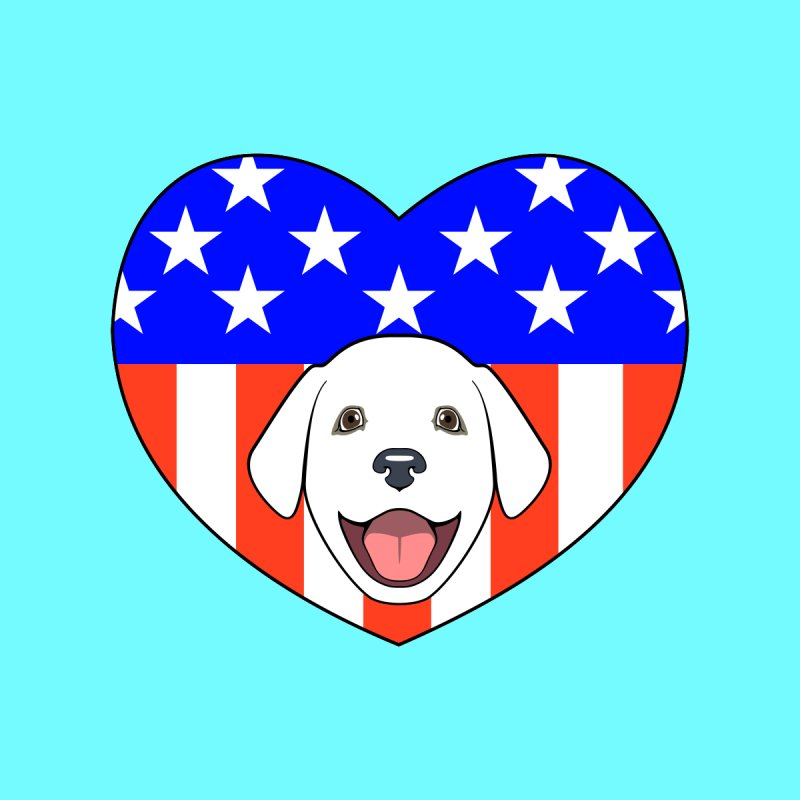 ALL AMERICAN DOG LOVER by CAT IN ORBIT Artist Shop