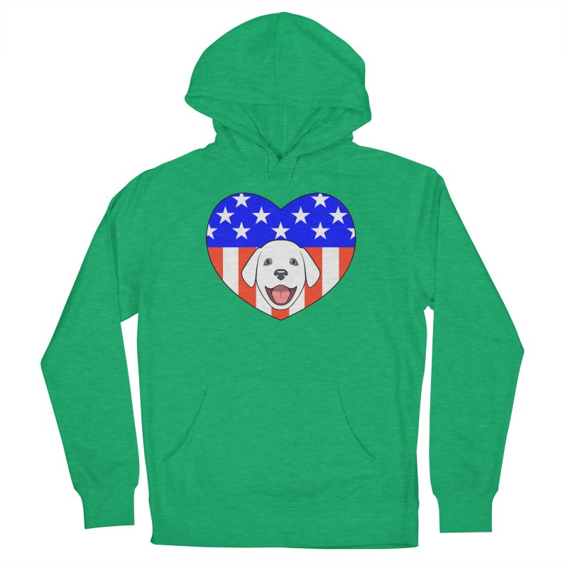 ALL AMERICAN DOG LOVER Men's Pullover Hoody by CAT IN ORBIT Artist Shop