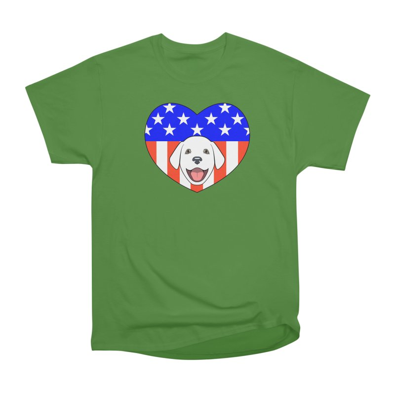 ALL AMERICAN DOG LOVER Men's Classic T-Shirt by CAT IN ORBIT Artist Shop