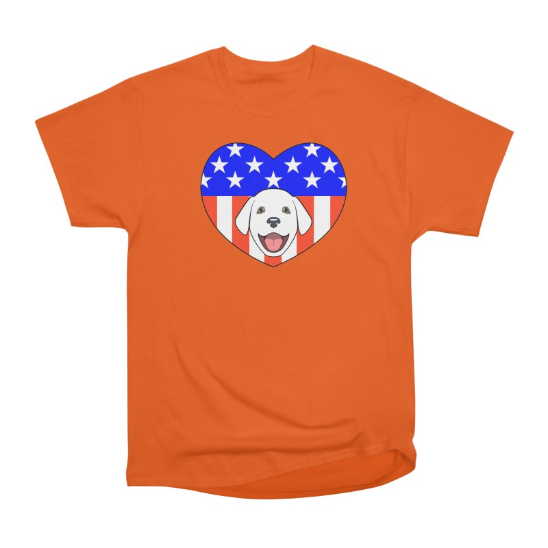 ALL AMERICAN DOG LOVER Women's Classic Unisex T-Shirt by CAT IN ORBIT Artist Shop