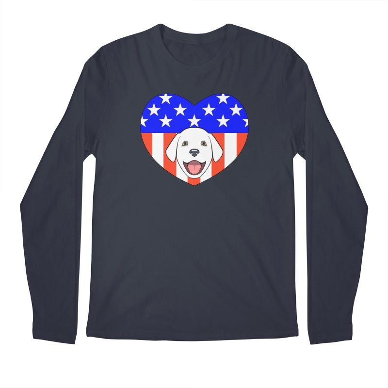 ALL AMERICAN DOG LOVER Men's Longsleeve T-Shirt by CAT IN ORBIT Artist Shop