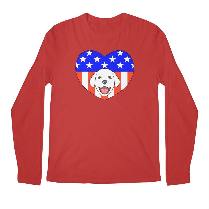 ALL AMERICAN DOG LOVER Men's Regular Longsleeve T-Shirt by CAT IN ORBIT Artist Shop