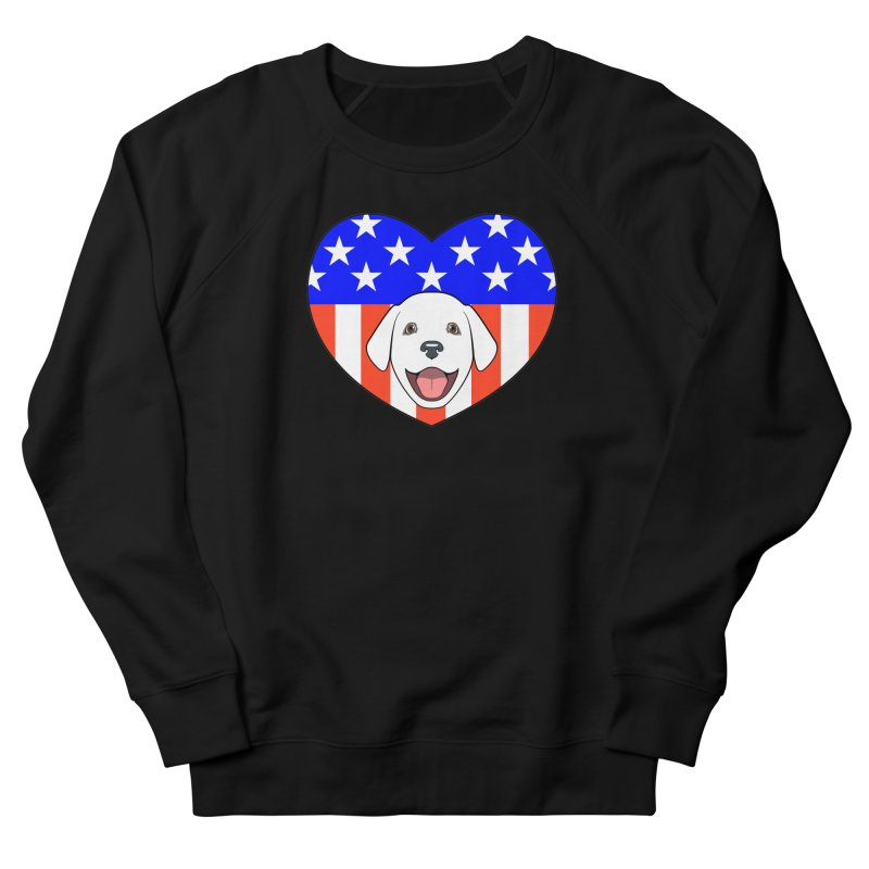 ALL AMERICAN DOG LOVER Men's Sweatshirt by CAT IN ORBIT Artist Shop