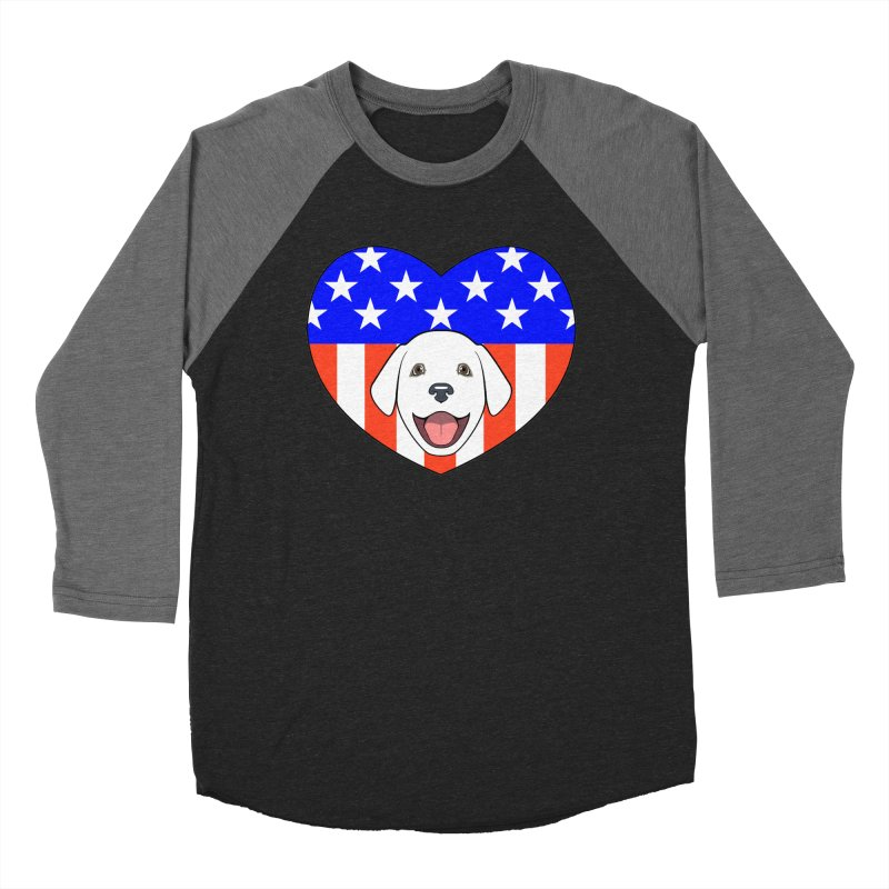 ALL AMERICAN DOG LOVER Women's Baseball Triblend T-Shirt by CAT IN ORBIT Artist Shop