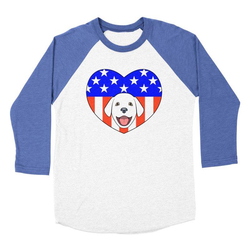 ALL AMERICAN DOG LOVER Men's Baseball Triblend Longsleeve T-Shirt by CAT IN ORBIT Artist Shop