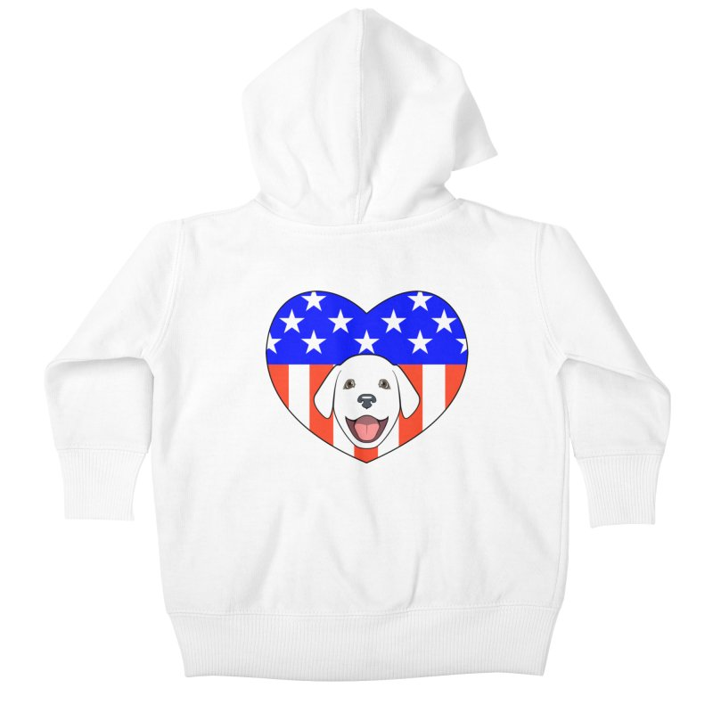 ALL AMERICAN DOG LOVER Kids Baby Zip-Up Hoody by CAT IN ORBIT Artist Shop