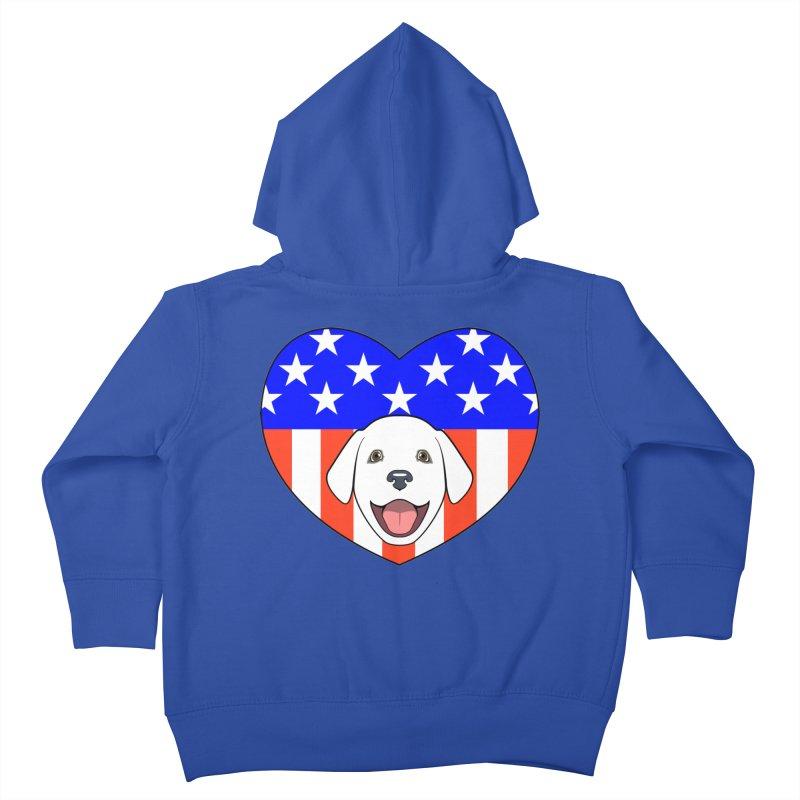 ALL AMERICAN DOG LOVER Kids Toddler Zip-Up Hoody by CAT IN ORBIT Artist Shop