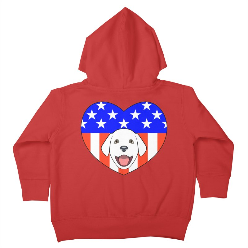 ALL AMERICAN DOG LOVER Kids Toddler Zip-Up Hoody by CAT IN ORBIT Artist Shop