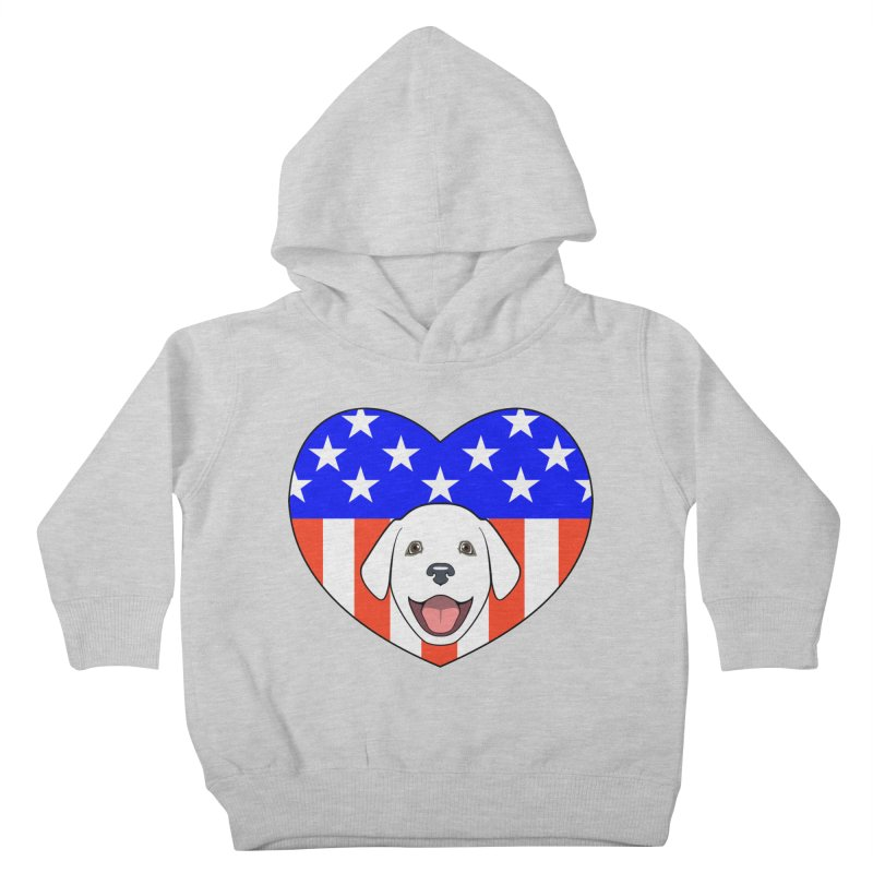 ALL AMERICAN DOG LOVER Kids Toddler Pullover Hoody by CAT IN ORBIT Artist Shop