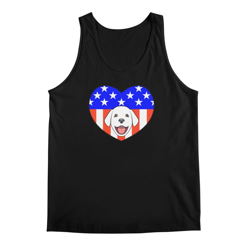 ALL AMERICAN DOG LOVER Men's Tank by CAT IN ORBIT Artist Shop