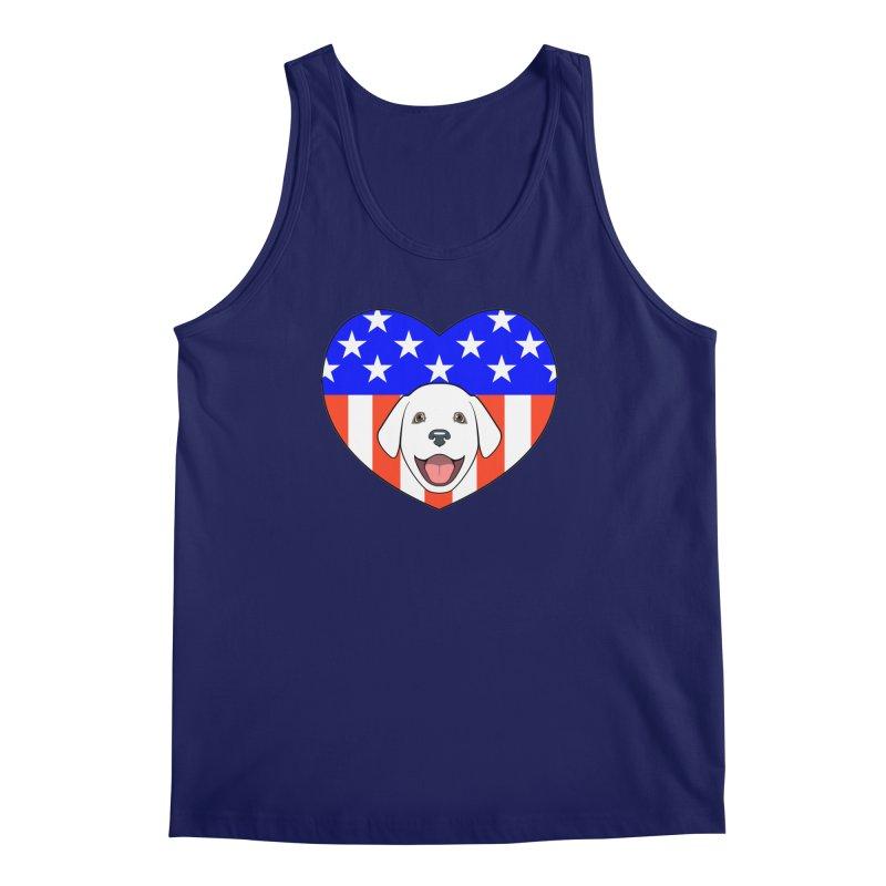 ALL AMERICAN DOG LOVER Men's Tank by CAT IN ORBIT Artist Shop