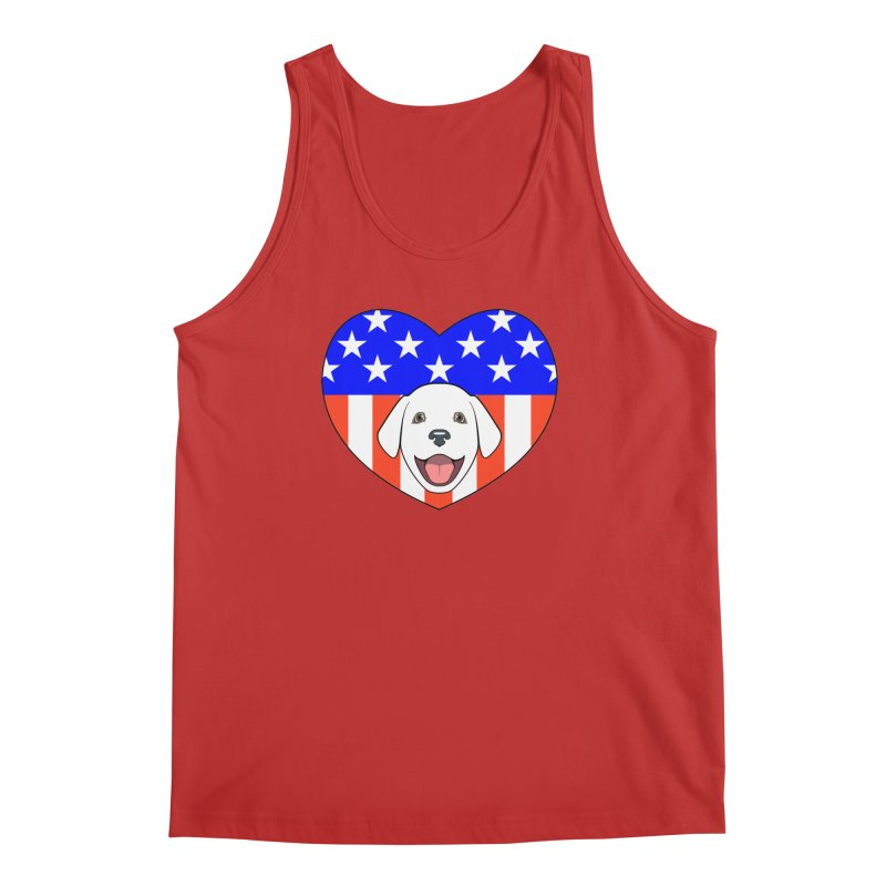 ALL AMERICAN DOG LOVER Men's Regular Tank by CAT IN ORBIT Artist Shop