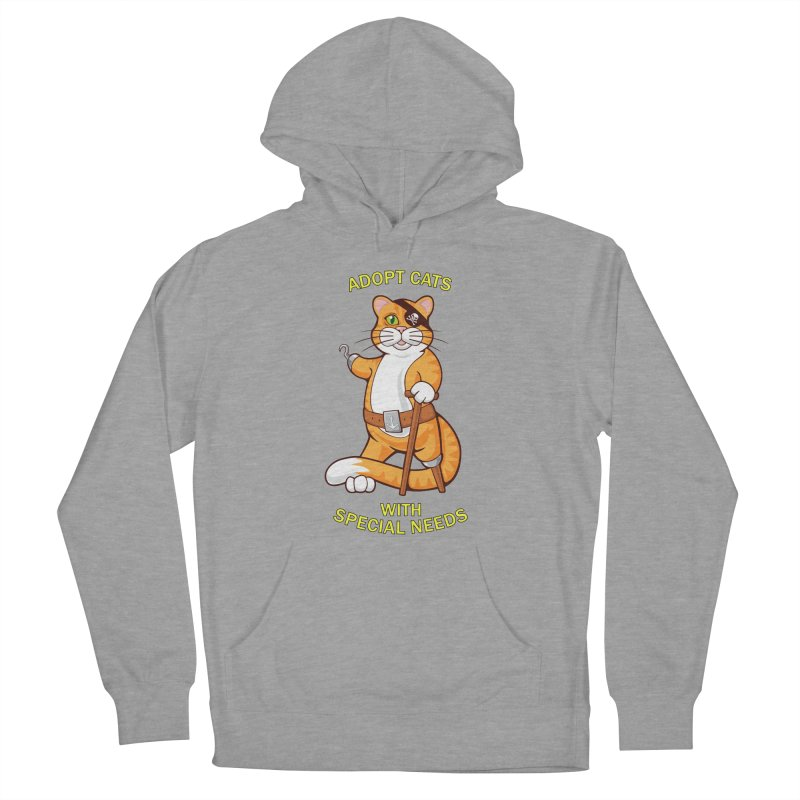ADOPT CATS WITH SPECIAL NEEDS Women's Pullover Hoody by CAT IN ORBIT Artist Shop