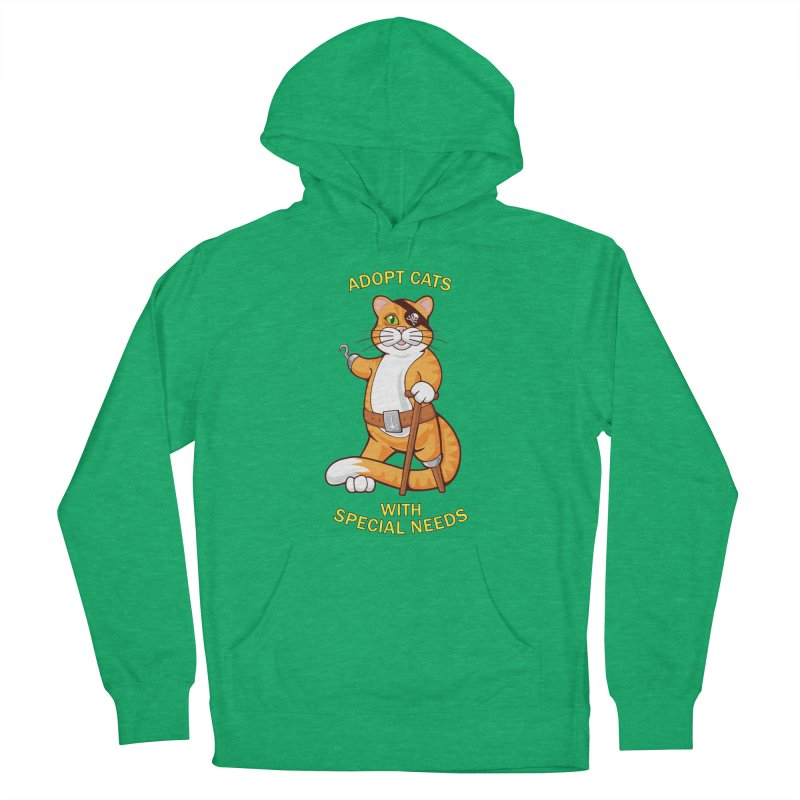 ADOPT CATS WITH SPECIAL NEEDS Men's French Terry Pullover Hoody by CAT IN ORBIT Artist Shop