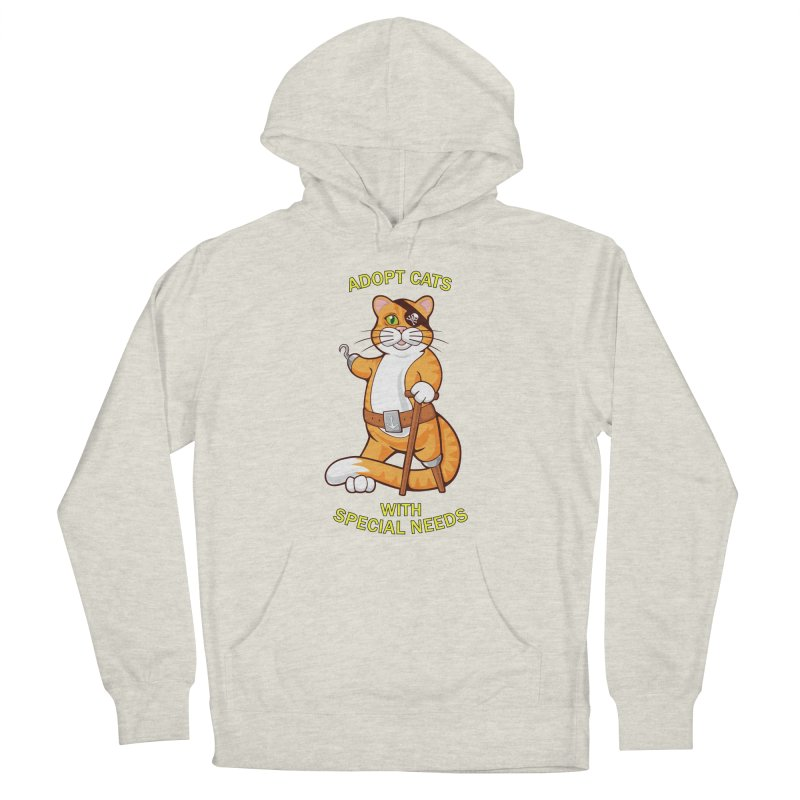 ADOPT CATS WITH SPECIAL NEEDS Men's Pullover Hoody by CAT IN ORBIT Artist Shop