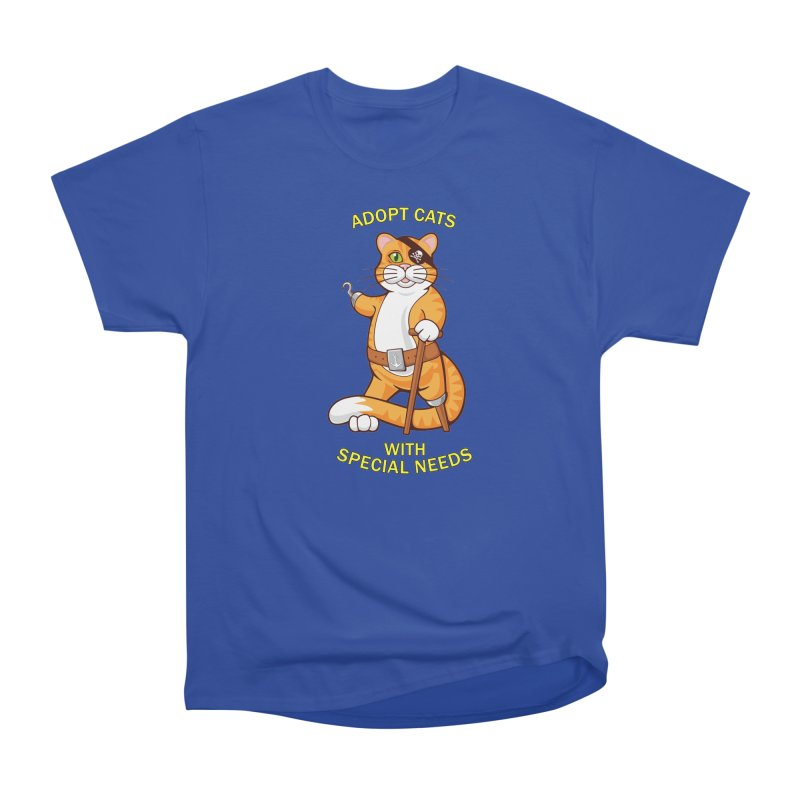 ADOPT CATS WITH SPECIAL NEEDS Men's Classic T-Shirt by CAT IN ORBIT Artist Shop