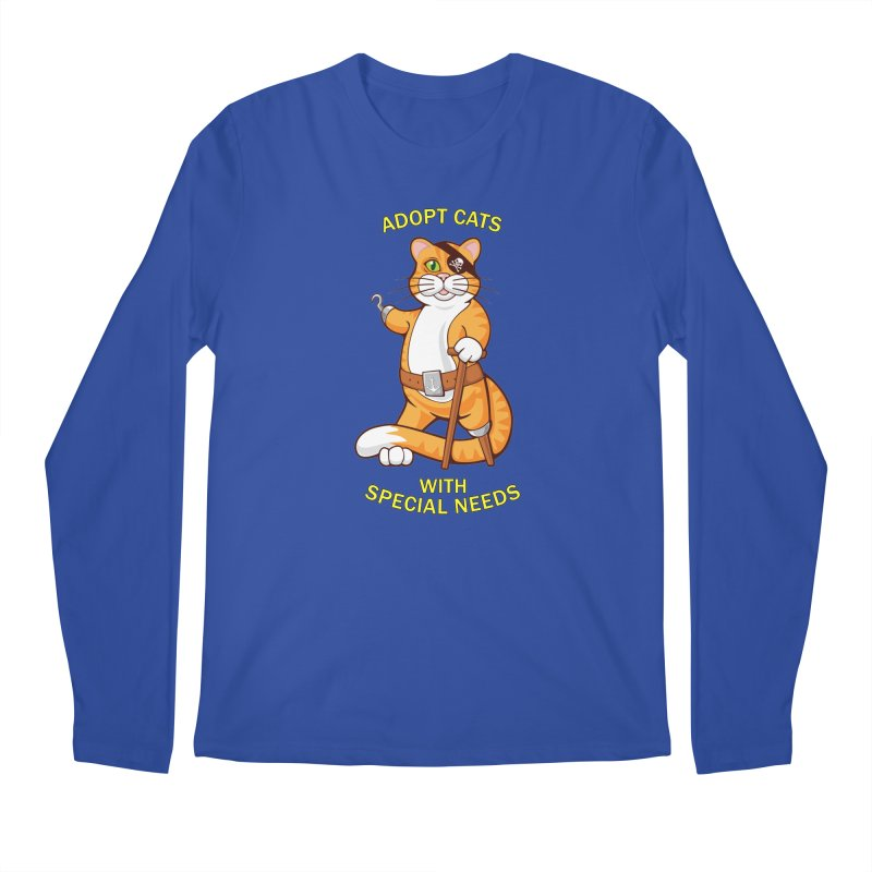 ADOPT CATS WITH SPECIAL NEEDS Men's Longsleeve T-Shirt by CAT IN ORBIT Artist Shop