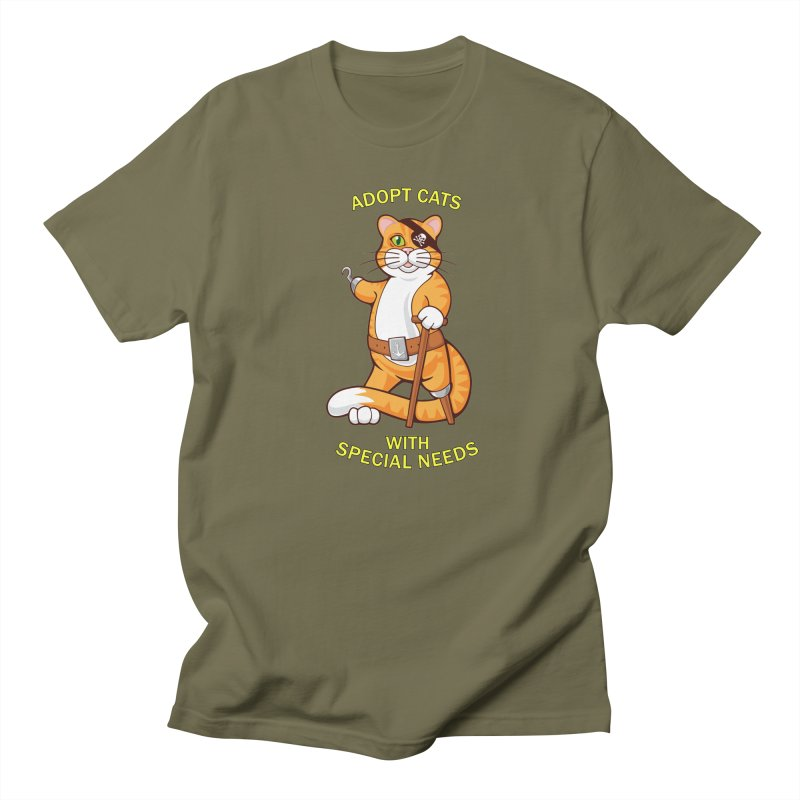 ADOPT CATS WITH SPECIAL NEEDS Men's Regular T-Shirt by CAT IN ORBIT Artist Shop