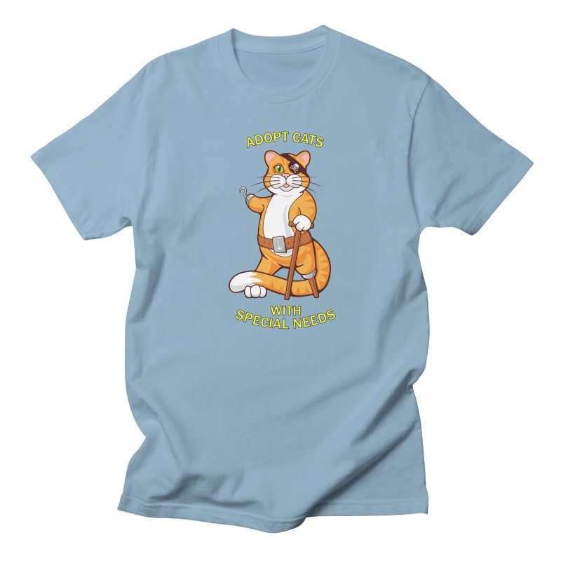 ADOPT CATS WITH SPECIAL NEEDS Women's Unisex T-Shirt by CAT IN ORBIT Artist Shop