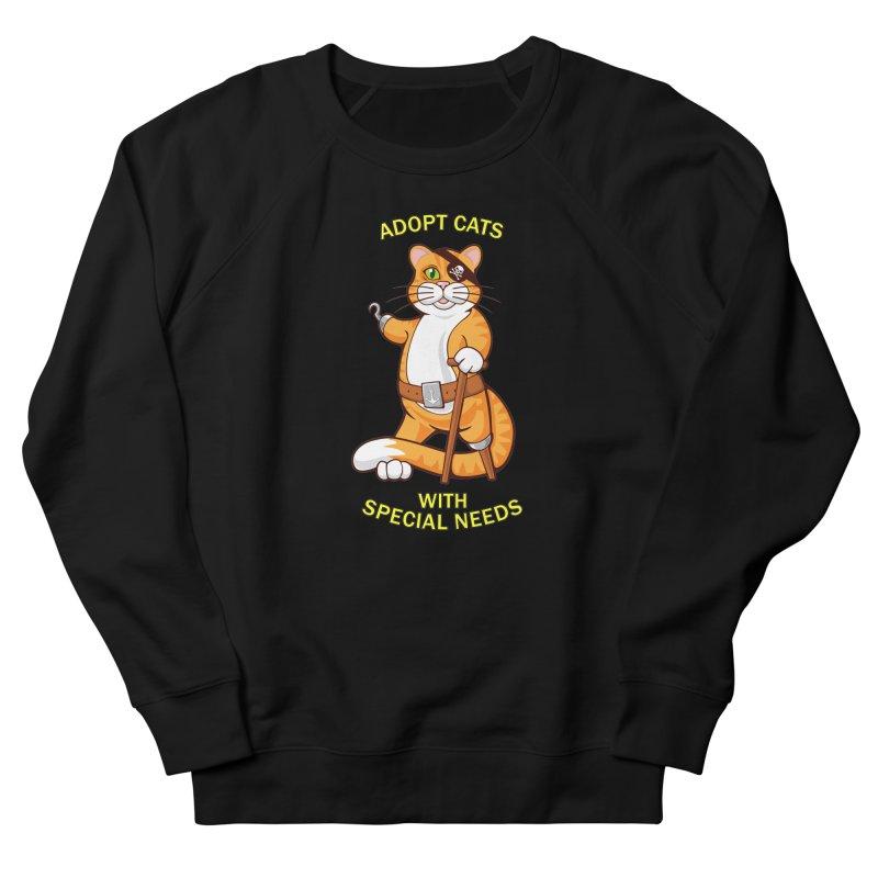 ADOPT CATS WITH SPECIAL NEEDS Women's Sweatshirt by CAT IN ORBIT Artist Shop