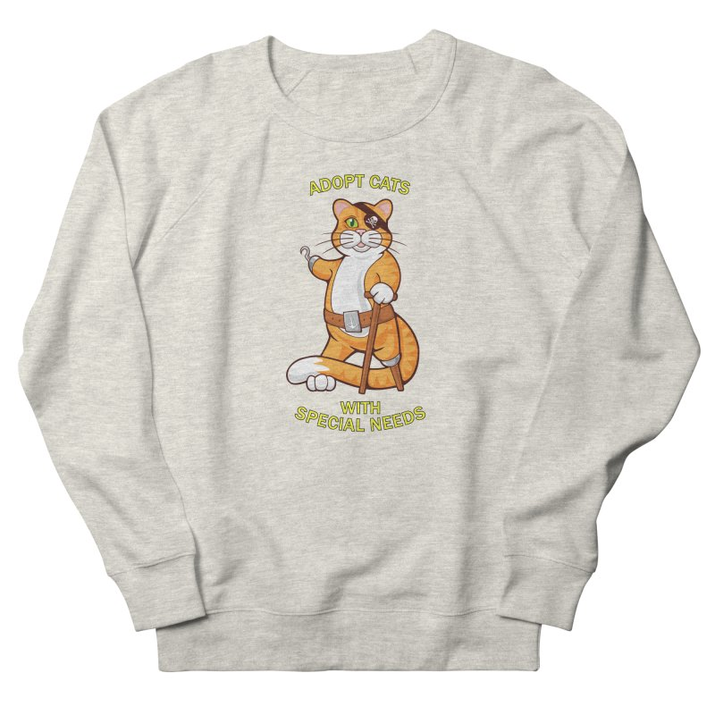 ADOPT CATS WITH SPECIAL NEEDS Men's French Terry Sweatshirt by CAT IN ORBIT Artist Shop
