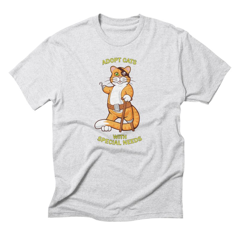 ADOPT CATS WITH SPECIAL NEEDS Men's Triblend T-Shirt by CAT IN ORBIT Artist Shop