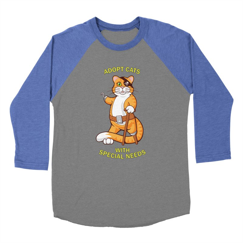 ADOPT CATS WITH SPECIAL NEEDS Women's Baseball Triblend T-Shirt by CAT IN ORBIT Artist Shop