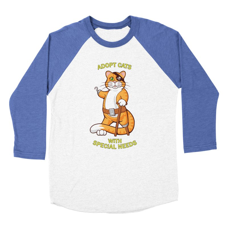 ADOPT CATS WITH SPECIAL NEEDS Men's Baseball Triblend T-Shirt by CAT IN ORBIT Artist Shop
