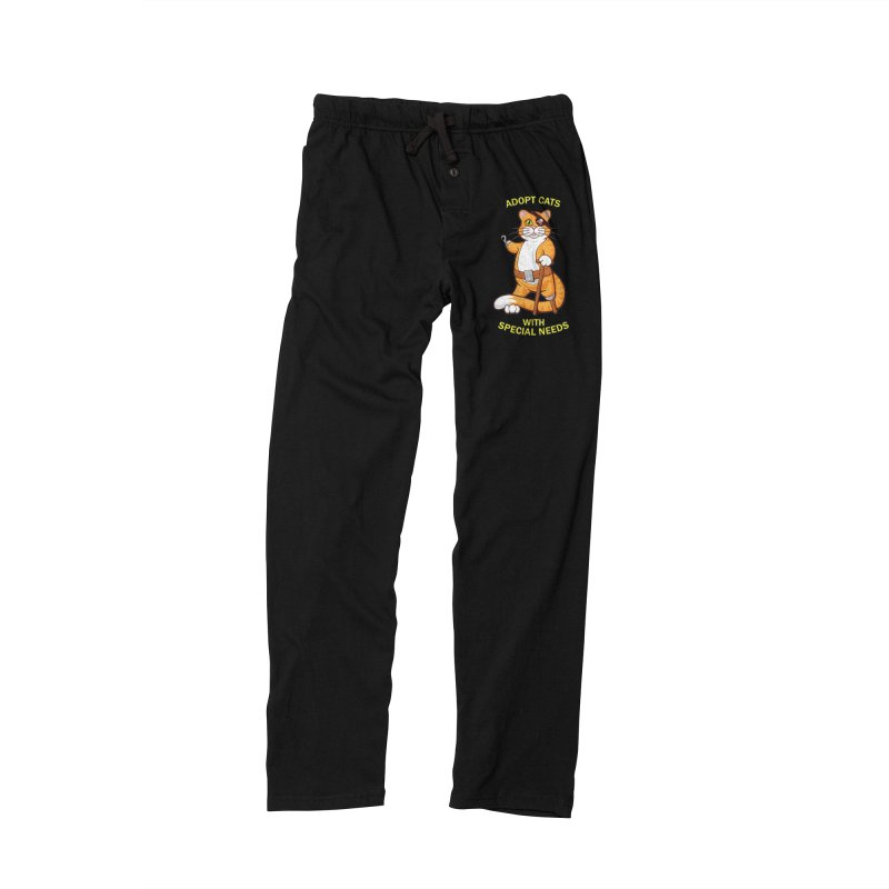 ADOPT CATS WITH SPECIAL NEEDS Men's Lounge Pants by CAT IN ORBIT Artist Shop