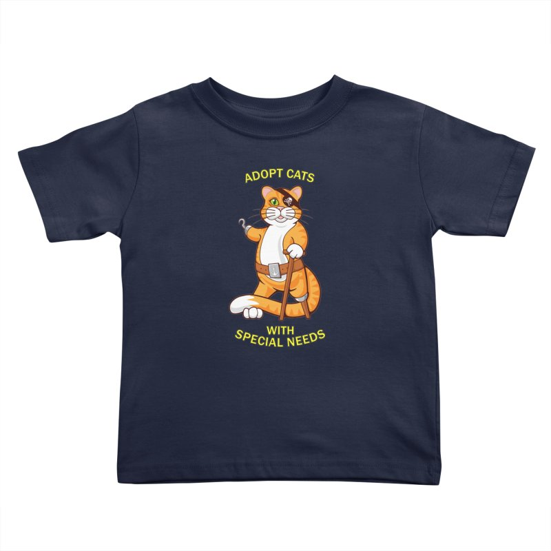 ADOPT CATS WITH SPECIAL NEEDS Kids Toddler T-Shirt by CAT IN ORBIT Artist Shop