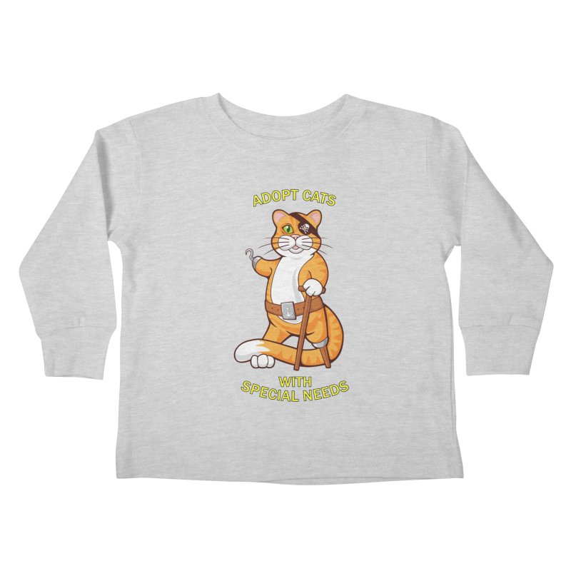 ADOPT CATS WITH SPECIAL NEEDS Kids Toddler Longsleeve T-Shirt by CAT IN ORBIT Artist Shop