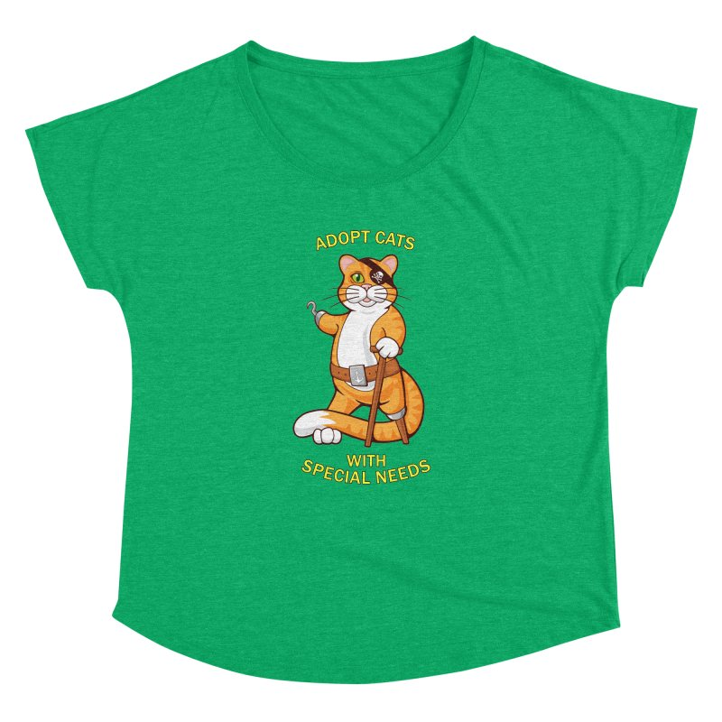 ADOPT CATS WITH SPECIAL NEEDS Women's Dolman by CAT IN ORBIT Artist Shop