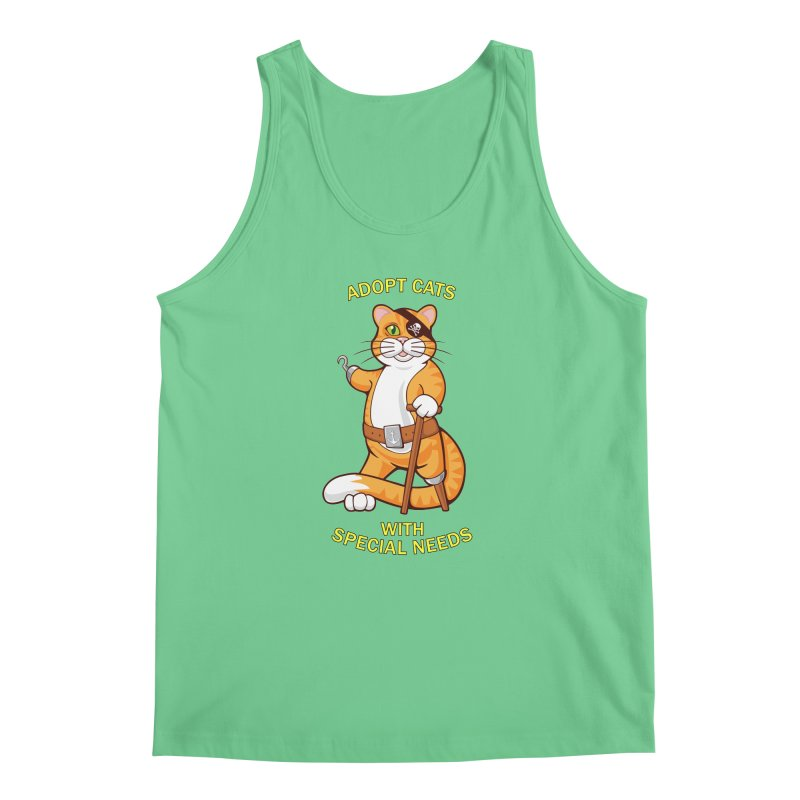 ADOPT CATS WITH SPECIAL NEEDS Men's Tank by CAT IN ORBIT Artist Shop