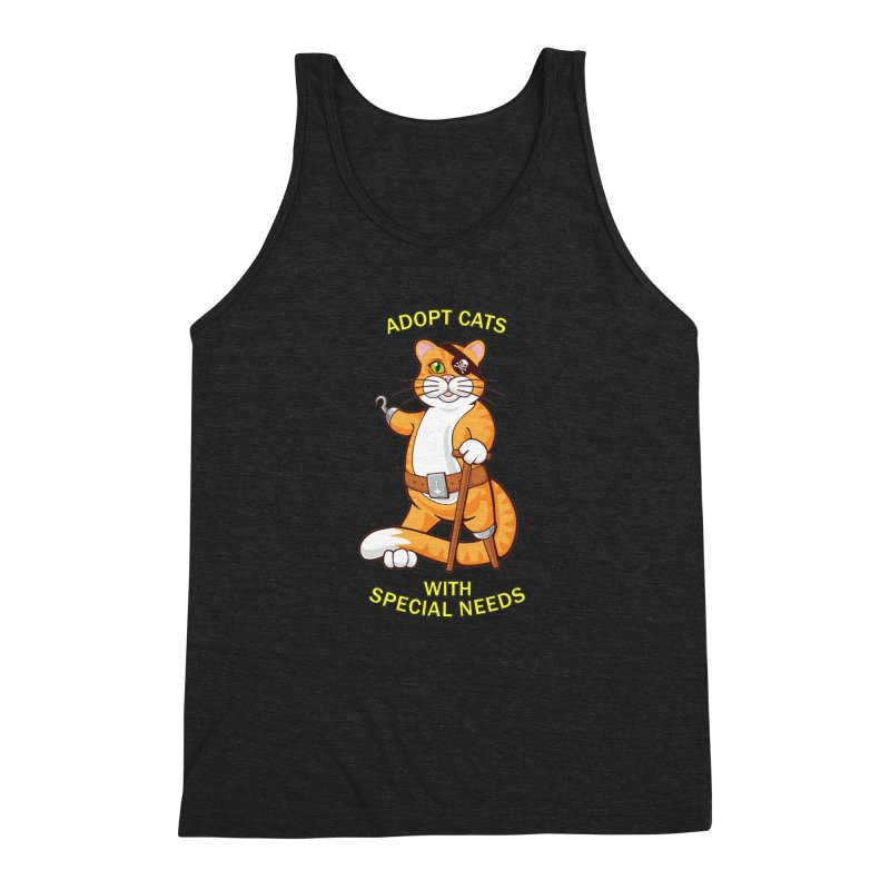 ADOPT CATS WITH SPECIAL NEEDS Men's Triblend Tank by CAT IN ORBIT Artist Shop