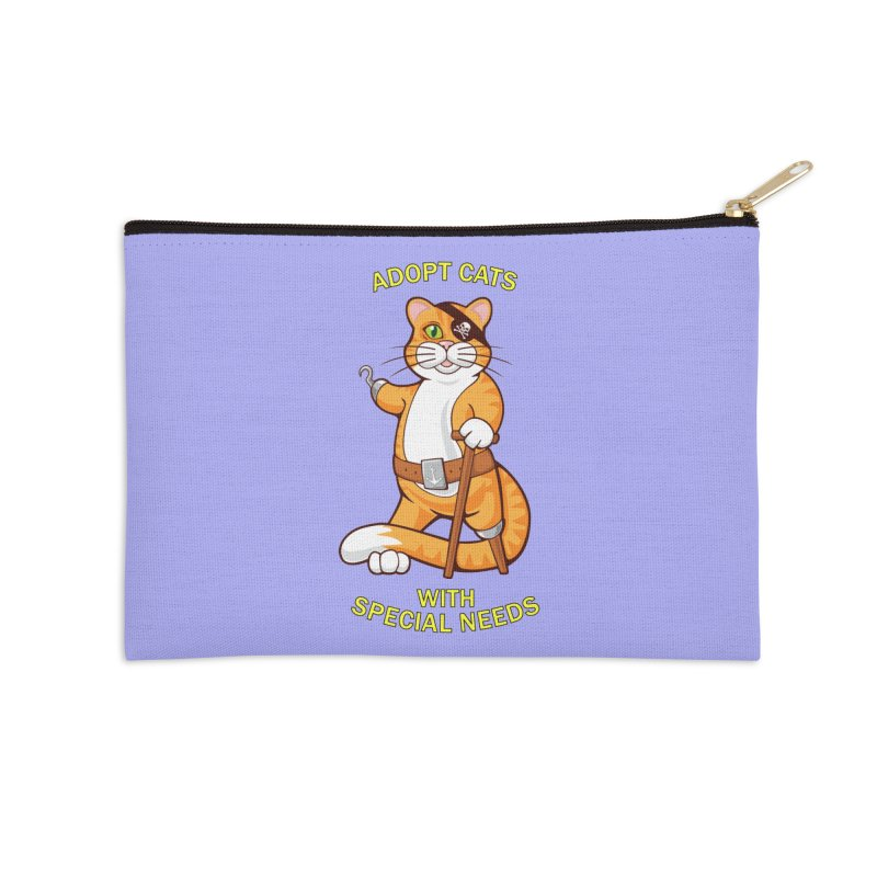 ADOPT CATS WITH SPECIAL NEEDS Accessories Zip Pouch by CAT IN ORBIT Artist Shop