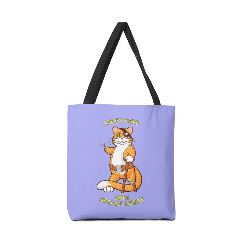 ADOPT CATS WITH SPECIAL NEEDS Accessories Bag by CAT IN ORBIT Artist Shop