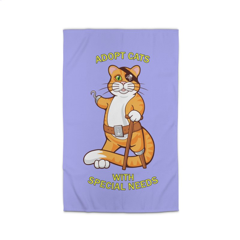 ADOPT CATS WITH SPECIAL NEEDS Home Rug by CAT IN ORBIT Artist Shop