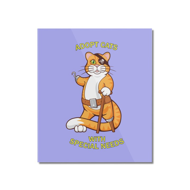 ADOPT CATS WITH SPECIAL NEEDS Home Mounted Acrylic Print by CAT IN ORBIT Artist Shop