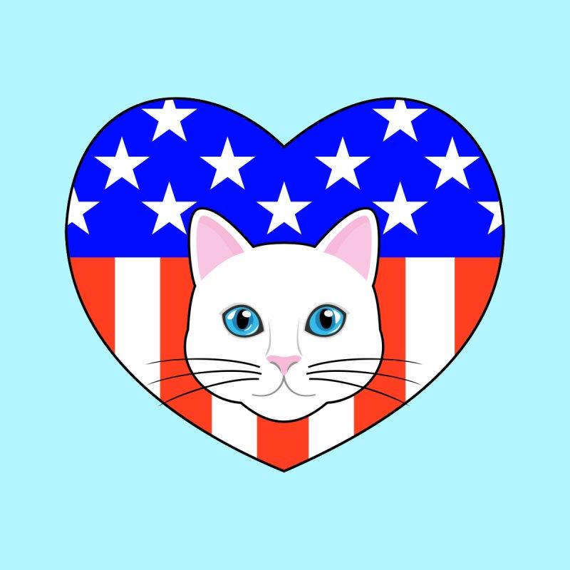 ALL AMERICAN CAT LOVER by CAT IN ORBIT Artist Shop