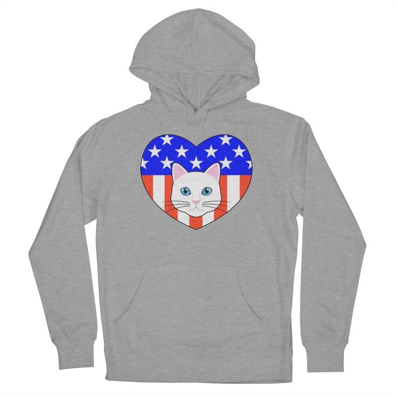 ALL AMERICAN CAT LOVER Men's Pullover Hoody by CAT IN ORBIT Artist Shop