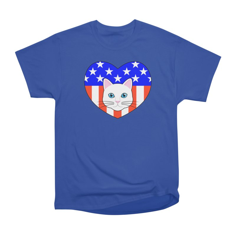 ALL AMERICAN CAT LOVER Women's Classic Unisex T-Shirt by CAT IN ORBIT Artist Shop