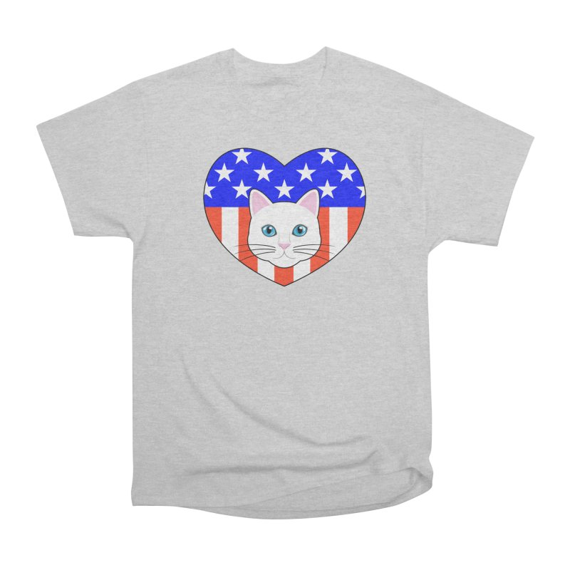 ALL AMERICAN CAT LOVER Women's Classic Unisex T-Shirt by CAT IN ORBIT Artist Shop